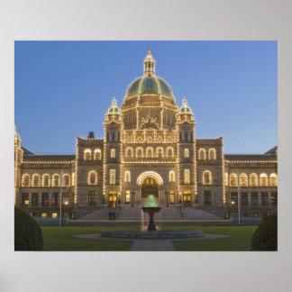 Canada, BC, Victoria, BC Legislature Building at Poster