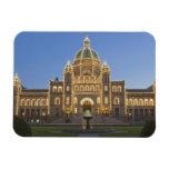 Canada, BC, Victoria, BC Legislature Building at Rectangular Photo Magnet