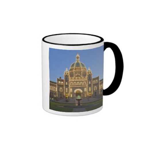 Canada, BC, Victoria, BC Legislature Building at Ringer Mug