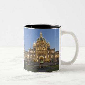 Canada, BC, Victoria, BC Legislature Building at Two-Tone Coffee Mug