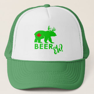 Canada beer eh? bear green hat Lighthouse Route
