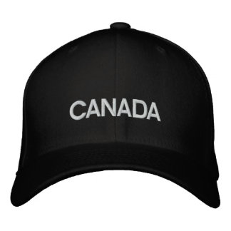 Canada Black/White Basic Wool Embroidered Cap