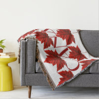 Canada Blanket Canada Maple Leaf Souvenir Throw