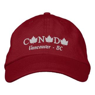 Canadá bordó el casquillo rojo de la bola - gorra de béisbol