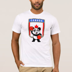 Men's Basic American Apparel T-Shirt with Canada Boxing Panda design