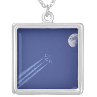 Canada, British Columbia, Abbotsford. digital Silver Plated Necklace