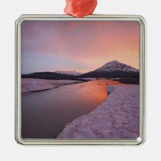 Canada, British Columbia, Alsek River Valley. Square Metal Christmas Ornament
