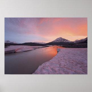 Canada, British Columbia, Alsek River Valley. Poster