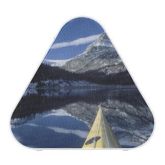 Canada, British Columbia, Banff. Kayak bow on Bluetooth Speaker