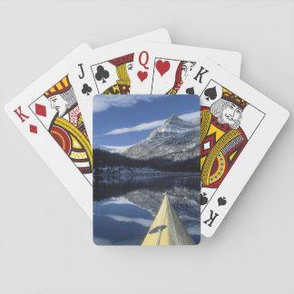 Canada, British Columbia, Banff. Kayak bow on Card Deck