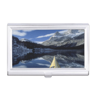 Canada, British Columbia, Banff. Kayak bow on Case For Business Cards