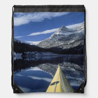Canada, British Columbia, Banff. Kayak bow on Drawstring Backpack