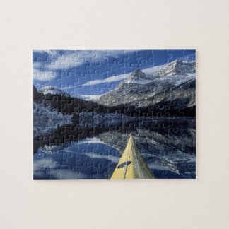 Canada, British Columbia, Banff. Kayak bow on Jigsaw Puzzle