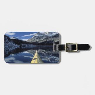 Canada, British Columbia, Banff. Kayak bow on Luggage Tag