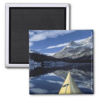 Canada, British Columbia, Banff. Kayak bow on Magnet