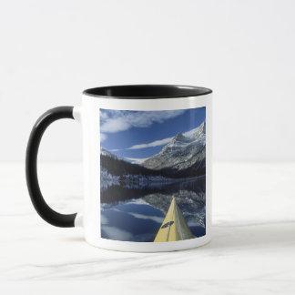 Canada, British Columbia, Banff. Kayak bow on Mug