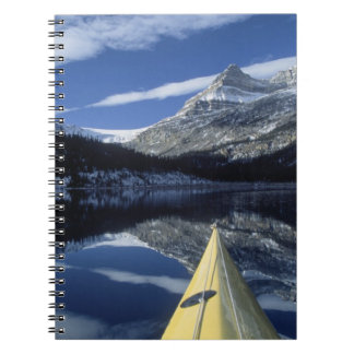 Canada, British Columbia, Banff. Kayak bow on Notebook