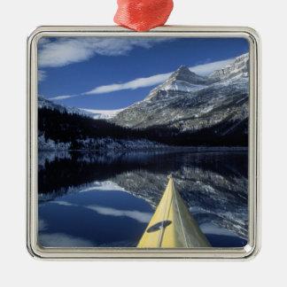 Canada, British Columbia, Banff. Kayak bow on Christmas Ornament