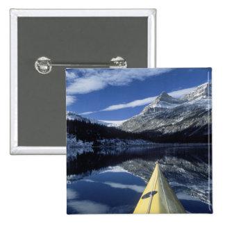 Canada, British Columbia, Banff. Kayak bow on Pinback Button