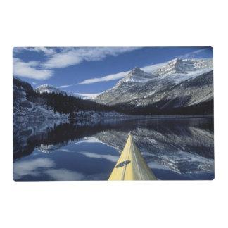 Canada, British Columbia, Banff. Kayak bow on Placemat