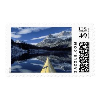 Canada, British Columbia, Banff. Kayak bow on Postage