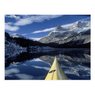 Canada, British Columbia, Banff. Kayak bow on Postcard