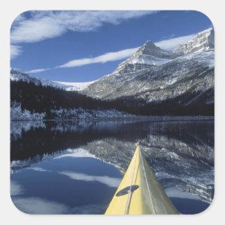 Canada, British Columbia, Banff. Kayak bow on Square Sticker