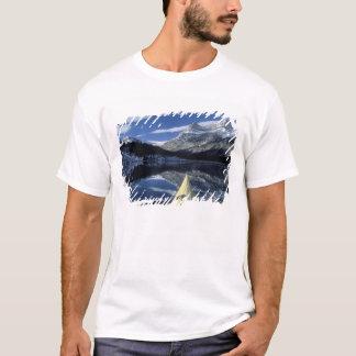 Canada, British Columbia, Banff. Kayak bow on T-Shirt
