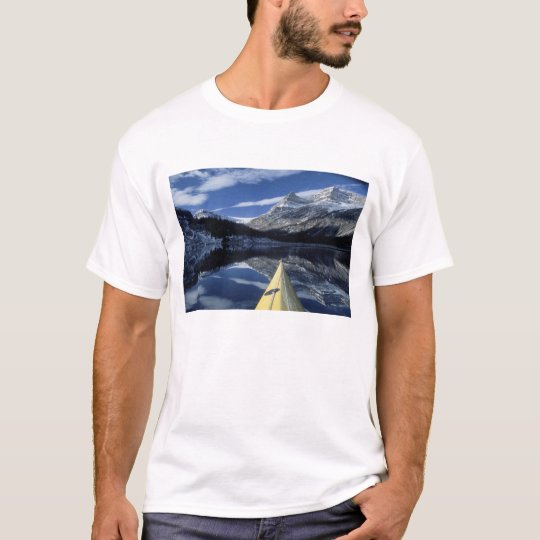 Canada, British Columbia, Banff. Kayak bow on T-Shirt