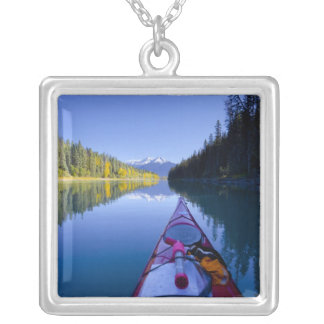 Canada, British Columbia, Bowron Lakes Silver Plated Necklace