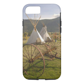 CANADA, British Columbia, Enderby. Tepees & iPhone 7 Case