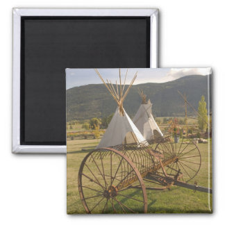 CANADA, British Columbia, Enderby. Tepees & Magnet