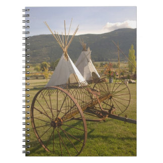 CANADA, British Columbia, Enderby. Tepees & Notebook