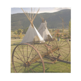 CANADA, British Columbia, Enderby. Tepees & Notepad