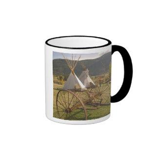 CANADA, British Columbia, Enderby. Tepees & Ringer Mug