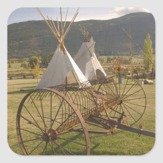 CANADA, British Columbia, Enderby. Tepees & Square Sticker