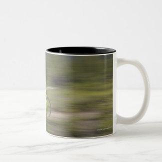 Canada, British Columbia, Fernie, Young man Two-Tone Coffee Mug