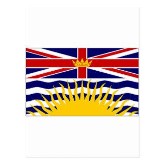 Canada British Columbia Flag Postcards