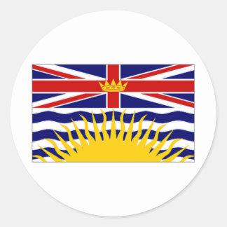 Canada British Columbia Flag Classic Round Sticker