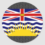 Canada British Columbia Flag Stickers