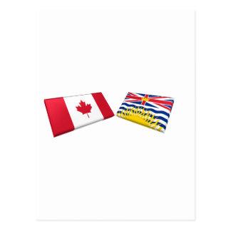 Canada & British Columbia Flag Tiles Post Cards