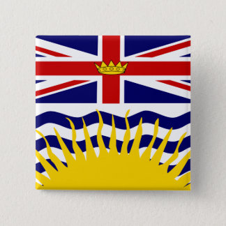 Canada British Columbia High quality Flag Button