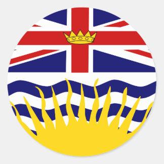 Canada British Columbia High quality Flag Classic Round Sticker