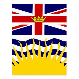 Canada British Columbia High quality Flag Postcard