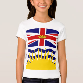 Canada British Columbia High quality Flag T-Shirt