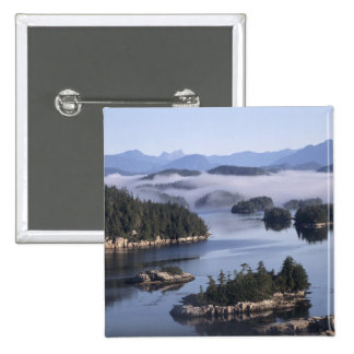 Canada, British Columbia, Johnstone Straight 2 Inch Square Button