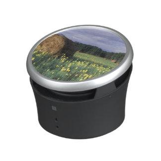 Canada, British Columbia, Kitwanga. Yellow Bluetooth Speaker