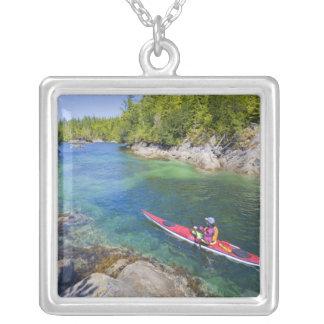 Canada, British Columbia, Vancouver Island. Sea 2 Silver Plated Necklace