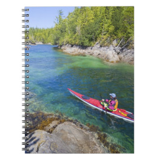 Canada, British Columbia, Vancouver Island. Sea 2 Spiral Notebook