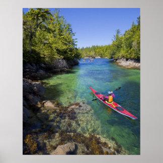 Canada, British Columbia, Vancouver Island. Sea Poster